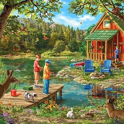 Jigsaw puzzle: Holiday house