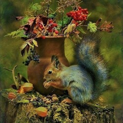 Jigsaw puzzle: Squirrel in the interior