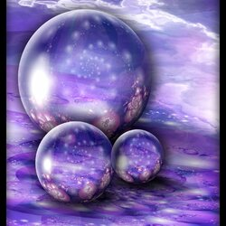 Jigsaw puzzle: Lilac balls