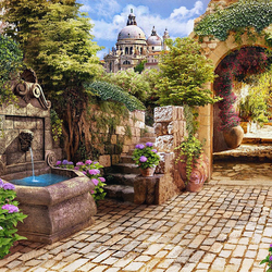 Jigsaw puzzle: Beautiful street
