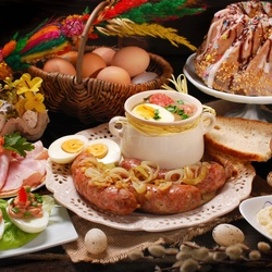 Jigsaw puzzle: Traditional Polish Easter breakfast