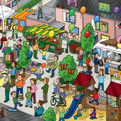 Jigsaw puzzle: Party on the street