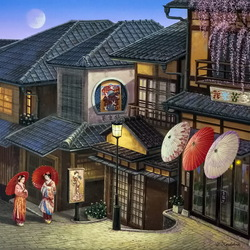 Jigsaw puzzle: Gion roofs