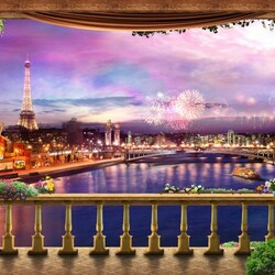 Jigsaw puzzle: Lights of paris