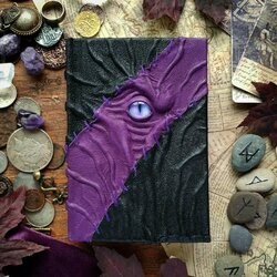 Jigsaw puzzle: Purple and black necronomicon