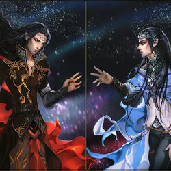 Jigsaw puzzle: Feanor and Fingolfin: Reunion