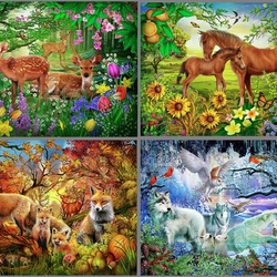 Jigsaw puzzle: Seasons of nature