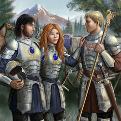 Jigsaw puzzle: Three in armor