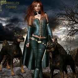 Jigsaw puzzle: Sorsha and two Dobermans