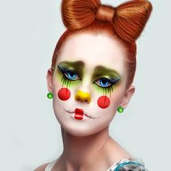 Jigsaw puzzle: Sad clown
