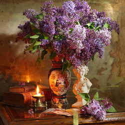 Jigsaw puzzle: Still life with lilac