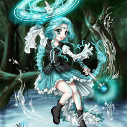 Jigsaw puzzle: Water sorceress