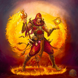 Jigsaw puzzle: Fire mage