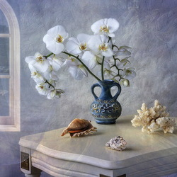 Jigsaw puzzle: Still life with orchids