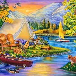 Jigsaw puzzle: Camping
