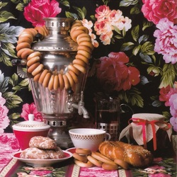 Jigsaw puzzle: Samovar with bagels