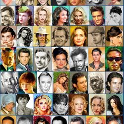 Jigsaw puzzle: Hollywood stars