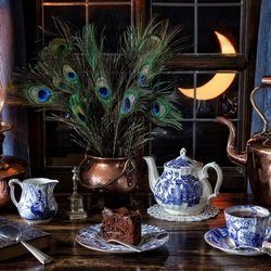 Jigsaw puzzle: Evening tea
