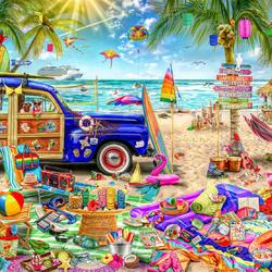 Jigsaw puzzle: Beach vacation