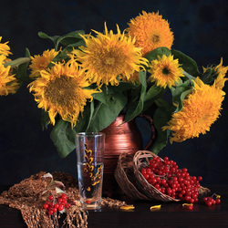 Jigsaw puzzle: Still life with sunflowers