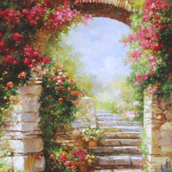 Jigsaw puzzle: Flower arch