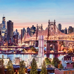 Jigsaw puzzle: Evening in New York