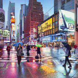 Jigsaw puzzle: Rain in the city