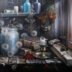Jigsaw puzzle: Still life by the window