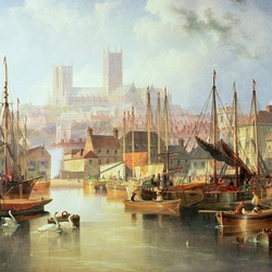Jigsaw puzzle: Port and Lincoln Cathedral