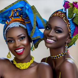 Jigsaw puzzle: African beauties