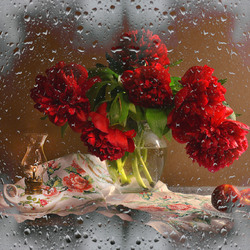 Jigsaw puzzle: Red flowers