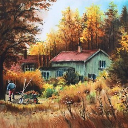 Jigsaw puzzle: Autumn cleaning