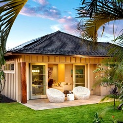 Jigsaw puzzle:  Bungalow relaxation