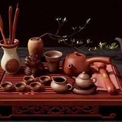 Jigsaw puzzle: Everything for the tea ceremony