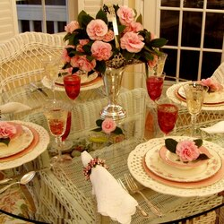 Jigsaw puzzle: Festive table setting
