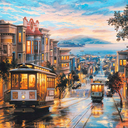 Jigsaw puzzle: Evening San Francisco