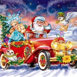 Jigsaw puzzle: Santa Claus is in a hurry to visit