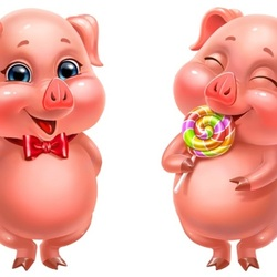 Jigsaw puzzle: Pig with gifts