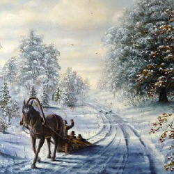 Jigsaw puzzle: Winter road