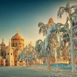 Jigsaw puzzle: Christmas frosts in Belogorye