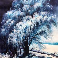 Jigsaw puzzle: Winter tree