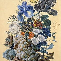 Jigsaw puzzle: Bouquet and fruits