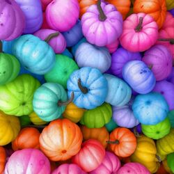 Jigsaw puzzle: Colored pumpkins