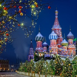 Jigsaw puzzle: New Year Moscow - 2019