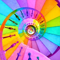 Jigsaw puzzle: Rainbow staircase