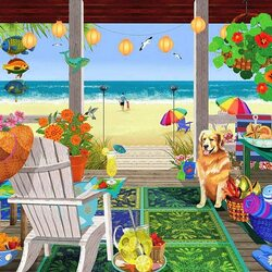 Jigsaw puzzle: On the beach