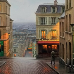 Jigsaw puzzle: Twilight in Paris