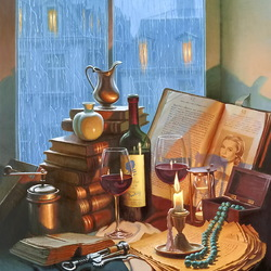 Jigsaw puzzle: Still life on the window