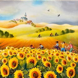 Jigsaw puzzle: Sunflower field