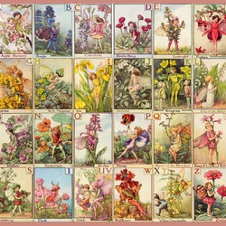 Jigsaw puzzle: Fairies of flowers